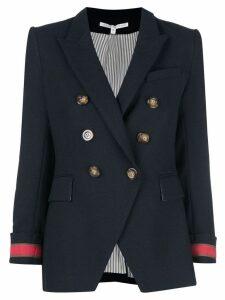 Veronica Beard contrast cuff blazer - Blue