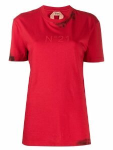 Nº21 splatter logo T-shirt - Red