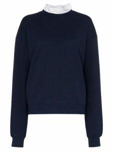 Ninety Percent ruffled neck sweatshirt - Blue