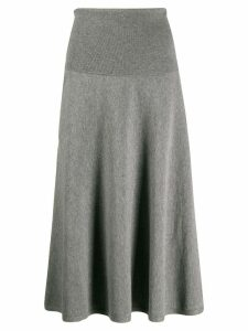 Stella McCartney knitted high waisted full skirt - Grey