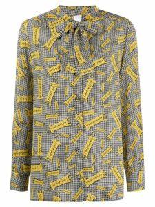 Ultràchic houndstooth print shirt - Yellow