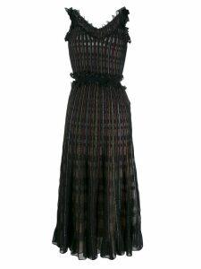 Alexander McQueen ruched midi dress - Black