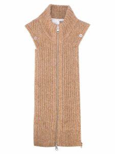 Veronica Beard zipped neck sweater - Brown