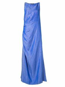 Wynn Hamlyn Lucia gathered waist dress - Blue