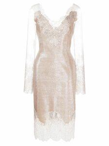Ermanno Scervino lace detail dress - Neutrals