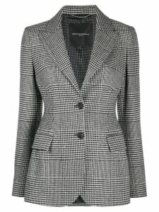 Ermanno Scervino houndstooth check pattern blazer - Black
