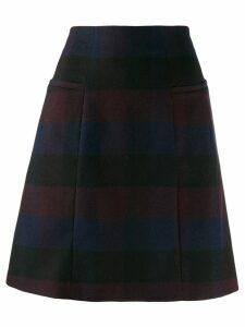 PS Paul Smith check pattern skirt - Black