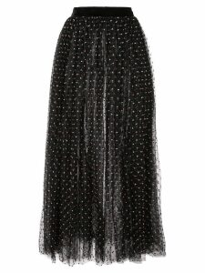 Adam Lippes polka dot tulle skirt - Black
