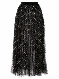 Adam Lippes polka dot tulle skirt - Black