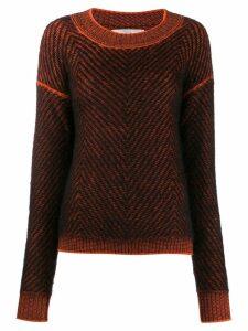 Tela zigzag pattern jumper - Black