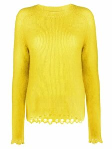 Tela curved high low hem jumper - Yellow