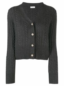 Sandro Paris v-neck pearl button cardigan - Grey