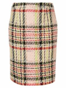 Andrew Gn tweed check pencil skirt - MULTI
