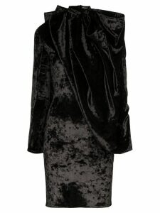 Y/Project draped cape-style mini dress - Black