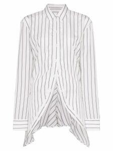 Y/Project striped asymmetric shirt - White/Black Stripe