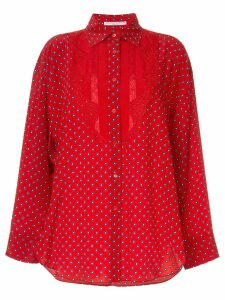 Ermanno Scervino polka dots blouse - Red