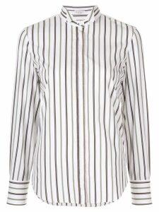Brunello Cucinelli striped long sleeve shirt - White