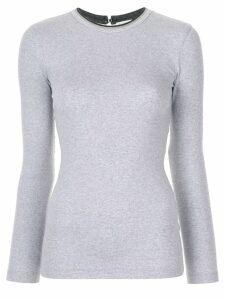 Brunello Cucinelli classic long sleeve top - Grey