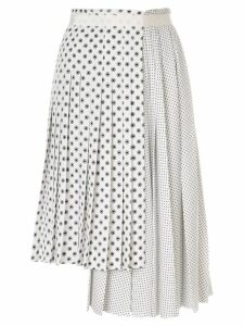 Ermanno Scervino pleated dots skirt - White