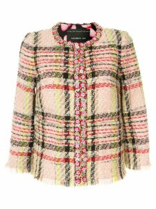 Andrew Gn checked blazer - Multicolour