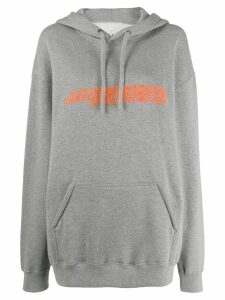 Calvin Klein Jeans Est. 1978 oversized embroidered hoodie - Grey