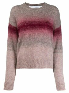 Iro ombré stripe pullover - Purple