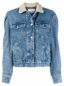 Isabel Marant Étoile Nolinea shearling-collar denim jacket - Blue