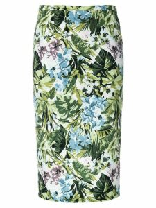 Pinko floral print pencil skirt - Green