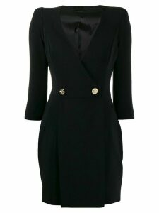 Elisabetta Franchi deep V-neck dress - Black
