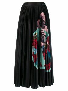 Valentino Lover pleated midi skirt - Black
