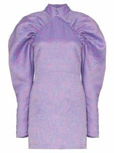 ROTATE puff-sleeve mini dress - PURPLE