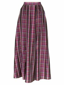 N Duo check pleated skirt - Purple