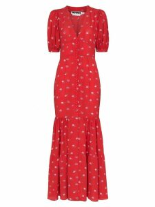 Rotate rose print maxi dress - Red