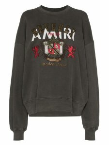 Amiri Beverly Hills embroidered sweatshirt - Black