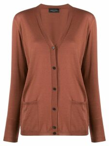 Roberto Collina relaxed-fit V-neck cardigan - Brown