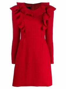 Giambattista Valli long-sleeve mini dress - Red