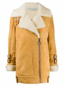 Off-White biker coat - Neutrals