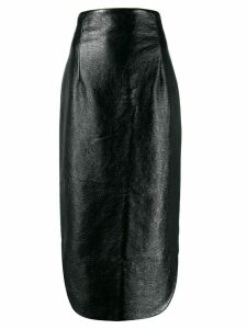 A.W.A.K.E. Mode fitted midi skirt - Black