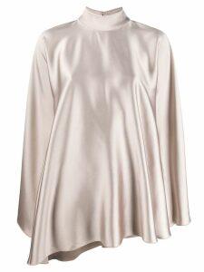 Styland high-neck draped dress - Neutrals