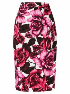 Prada roses pencil skirt - Black