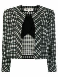 Diane von Furstenberg Lucia check jacket - Black