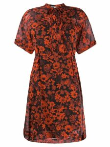 McQ Alexander McQueen floral print dress - Red
