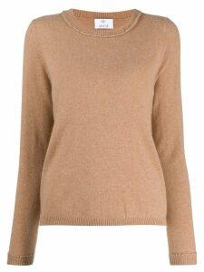 Allude round neck sweater - Neutrals