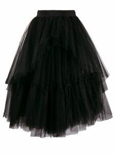 Brognano ruffle tulle midi skirt - Black