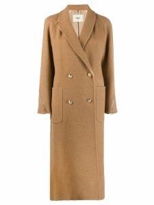 Fendi double-breasted coat - NEUTRALS