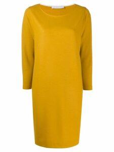 Harris Wharf London long-sleeve flared dress - Yellow