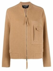 Rochas zipped fitted jacket - Neutrals