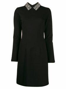 be blumarine embellished collar dress - Black