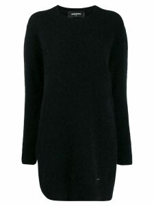 Dsquared2 fuzzy knit jumper dress - Black