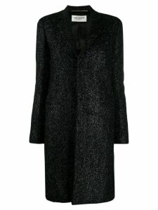 Saint Laurent knitted style chesterfield coat - Black